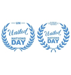 International day of un peacekeepers lettering vector