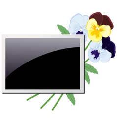 Photo frame in the violets vector image