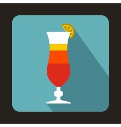 Colorful cocktail icon in flat style vector