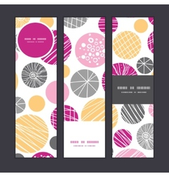 abstract textured bubbles vertical banners set vector image vector image
