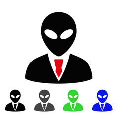 Alien manager flat icon vector