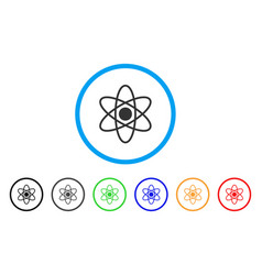 Atom rounded icon vector
