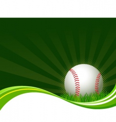 baseball background vector image vector image