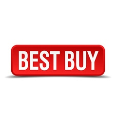 Best buy red three-dimensional square button vector