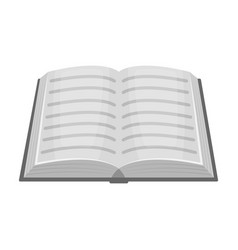 book icon in monochrome style isolated on white vector image