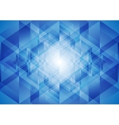 Bright blue tech polygonal background vector