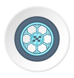 Car wheel icon cartoon style vector