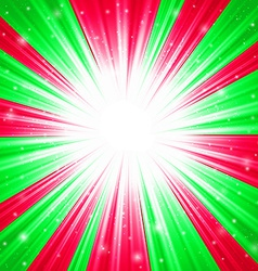 Christmas texture with shining snowflakes and rays vector image vector image