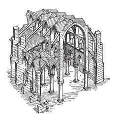 Constructive system of a gothic church the vector