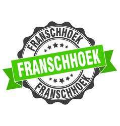 Franschhoek round ribbon seal vector