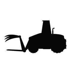Front loader agriculture vehicle concept vector