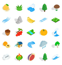 Grain icons set isometric style vector