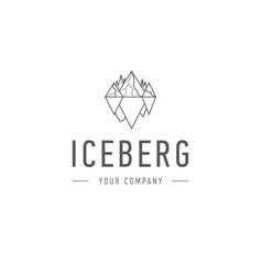 iceberg triangle of cold mountain abstract vector image vector image