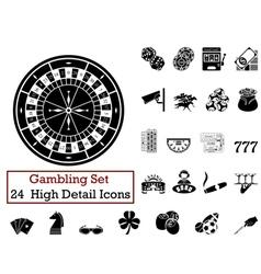 Icon set gambling vector