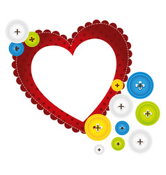 red heart with bubbles icon vector image vector image