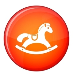 Rocking horse icon flat style vector