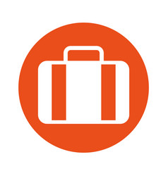 Round icon suitcase cartoon vector