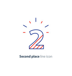 Second step concept achievement level linear icon vector