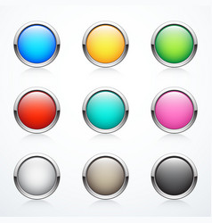 set of round buttons vector image vector image