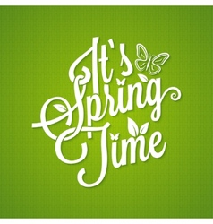 spring vintage lettering background vector image vector image