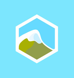 Swiss mountain icon vector