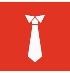 The tie icon necktie and neckcloth symbol flat vector