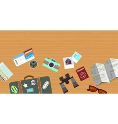 Travelling objects background vector
