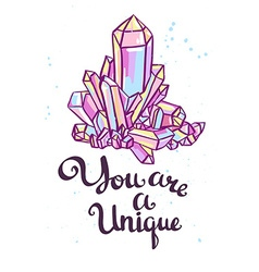 You are a unique Hand drawn calligraphic quote vector image vector image