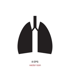 Lungs icon isolated vector