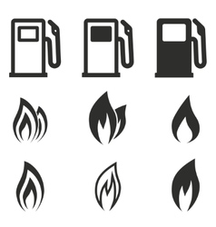 Fuel icon set vector