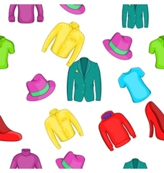 Different clothes pattern cartoon style vector