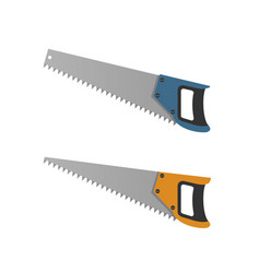 saws isolated on white background vector image