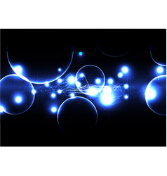 Technological electrical bokeh background vector