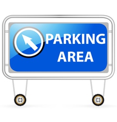 Traffic barrier parking area vector