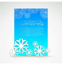Background with snowflakes and place for text vector image