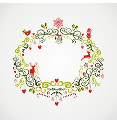 Vintage Christmas elements mistletoe design EPS10 vector image