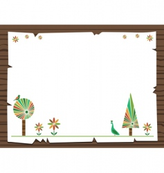 nature sign vector image