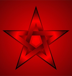 red star vector image