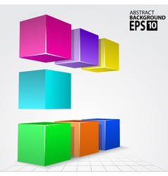 3d colorful cube arc abstract background vector