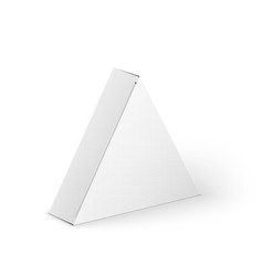 White product triangle package box mock up vector