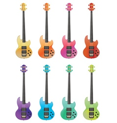 Electric guitars2 vector