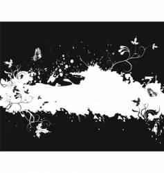 Grunge floral border vector
