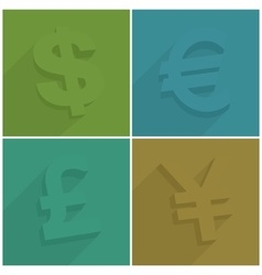 Set of money symbols vector image