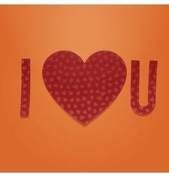 I love you realistic valentines textile symbols vector
