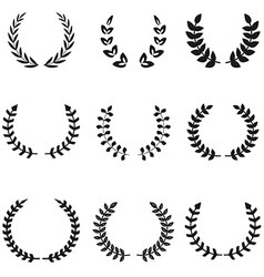 Set of different wreaths wreaths icons vector