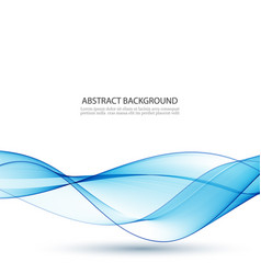abstract background blue waved lines for vector image
