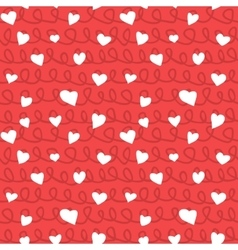 Abstract hearts and ropes seamless pattern doodle vector