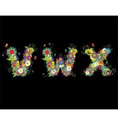 alphabet floral design vector image vector image