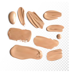 cosmetic concealer smear strokes tone cream vector image vector image