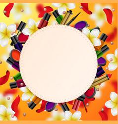 decorative cosmetics beauty store vector image vector image